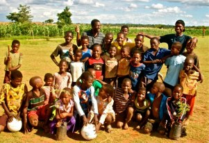 Kids at Lingadzi Academy earlier this year